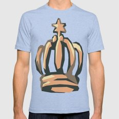 Crown Mens Fitted Tee Tri-Blue SMALL
