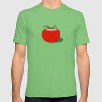 The Big Tomato Mens Fitted Tee Grass SMALL