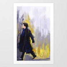 Walking Sherlock Art Print