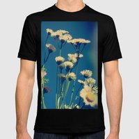 Coming Up Daisies Mens Fitted Tee Black SMALL