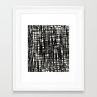 Painted_Plaid Framed Art Print
