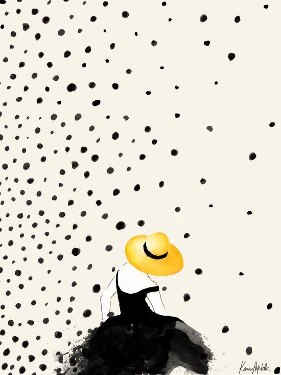 Polka Rain II Canvas Print