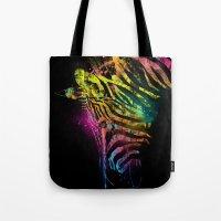 Zebra Mood Technicolor Tote Bag