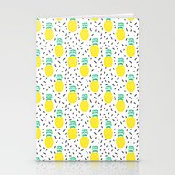 Stationery Cards featuring Pineapple Fun Modern Min… by CharlotteWinter
