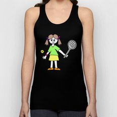 Tennis Girl Unisex Tank Top