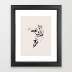 Lacrosse Player Framed Art Print