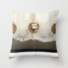 Three Lions Fountain Throw Pillow