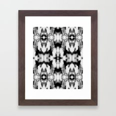 Tie Dye Blacks Framed Art Print