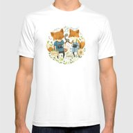 Fox Friends Mens Fitted Tee White SMALL