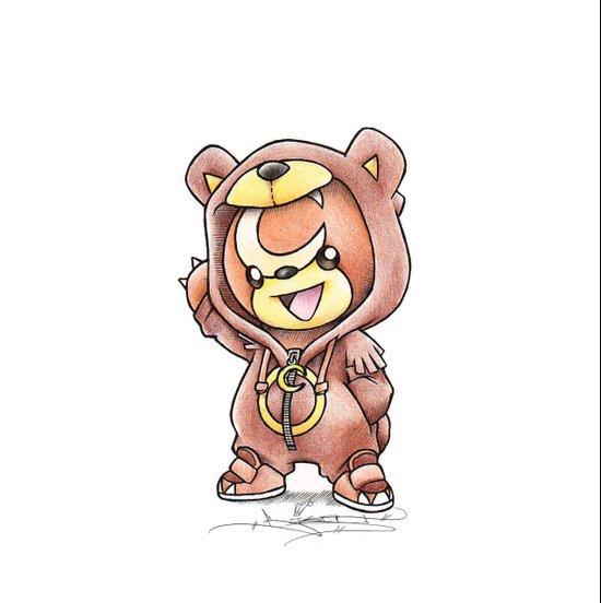Bear-ly Noticeable Art Print