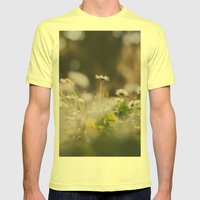 White Daisy Mens Fitted Tee Lemon SMALL