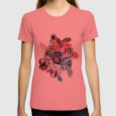 Earth's Loveliness, Agate Collection Womens Fitted Tee Pomegranate SMALL