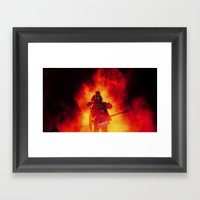 The Demon Rises Framed Art Print
