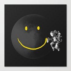 make a Smile graffiti astronaut  Canvas Print