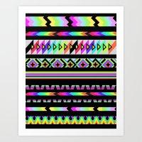 AZTEC RAINBOW Art Print