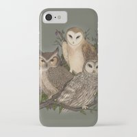 owls iPhone & iPod Cases featuring Owls by Jessica Roux