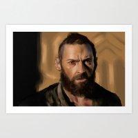 Jean Valjean Art Print