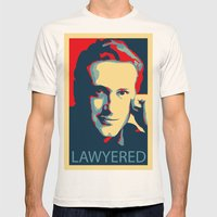 LAWYERED Mens Fitted Tee Natural SMALL