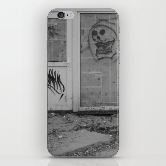 Death's newspaper booth iPhone & iPod Skin