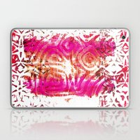 Pink, gold and red ghost print Laptop & iPad Skin