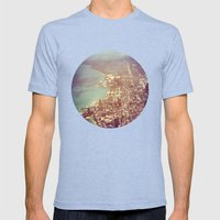 Chicago Mens Fitted Tee Tri-Blue SMALL