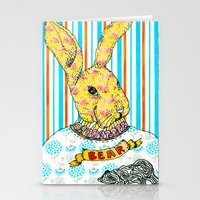 Rabbit and Bear Stationery Cards