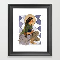 Looking Glass Alyss Framed Art Print