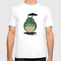 My Neighbor Cthulu Mens Fitted Tee White SMALL
