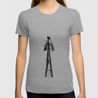 Waiting For Tomorrow Womens Fitted Tee Athletic Grey SMALL