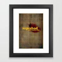 Superbad - Blood Brothers Framed Art Print