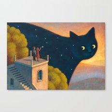 Eyes Of The Night Canvas Print