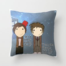 A Timey-Wimey Thing Throw Pillow