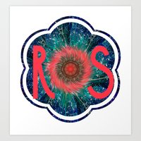 R S Logo Art Print