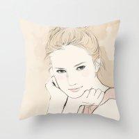 Fashion Illustration - A… Throw Pillow