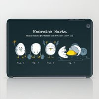 Exercise Hurts iPad Case