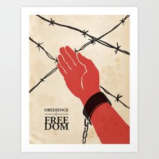 OBEDIENCE is FREEDOM - one Art Print