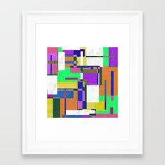 Pastel Geometry Framed Art Print