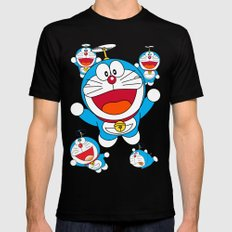 Doraemon Mens Fitted Tee Black SMALL