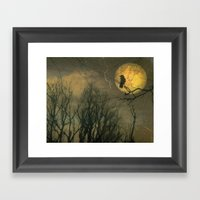 Autumn Moon Framed Art Print