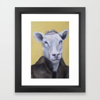 Sheep Portrait Framed Art Print
