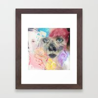 We live in the Passionate Places Framed Art Print