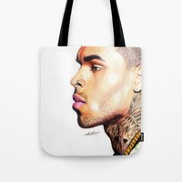 Breezy Chris Portrait Tote Bag