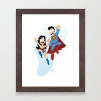 Couple Dressed As Heroes… Framed Art Print