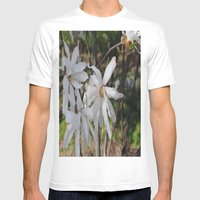 waving flowerheads Mens Fitted Tee White SMALL