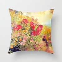 Colorful Flower Basket P… Throw Pillow