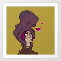 Octopus Head Art Print