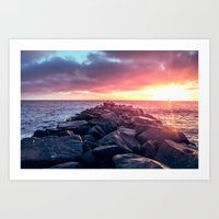 Topaz Jetty Art Print