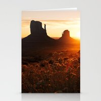 Sunrise In Monument Vall… Stationery Cards