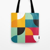 Squares & Curves Tote Bag