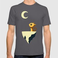 Moon Cat Mens Fitted Tee Asphalt SMALL
